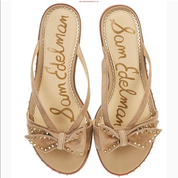 Sam Edelman Dariel Bow Studded Sandals